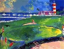 Leroy Neiman 18th AT HARBOUR TOWN hand Signed Golf art