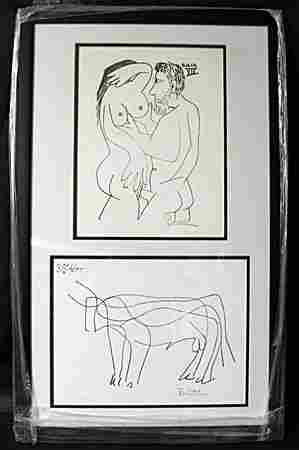 Lithographs 2-in-1 by P. Picasso (EK 1117)