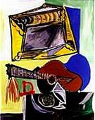 Still life with guitar and frame-Collection Domaine