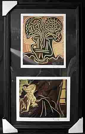 Lithographs 2-in-1 by P. Picasso