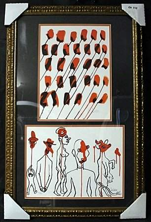 Lithographs 2-in-1 by Alexander Calder (EK 1172)