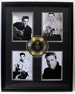 4 Photo Elvis with Gold Record Memorabilia - LA8