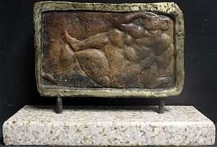 Bronze Sculpture By M. Hugue (44X)