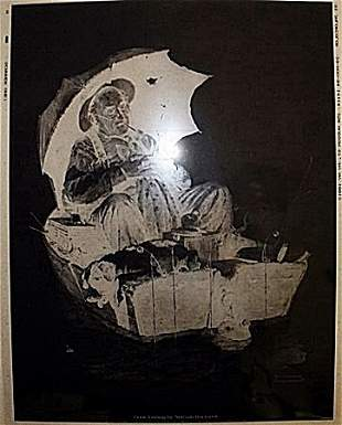 """""""Gone Fishing"""" by Norman Rockwell"""