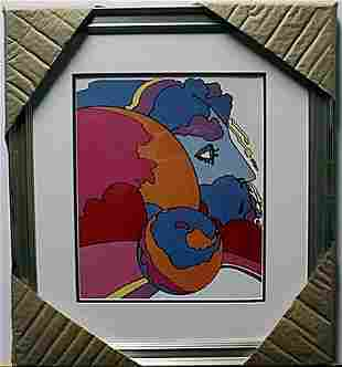 """""""ASTRAL WORLD WATCHER"""" Lithograph By Peter Max"""