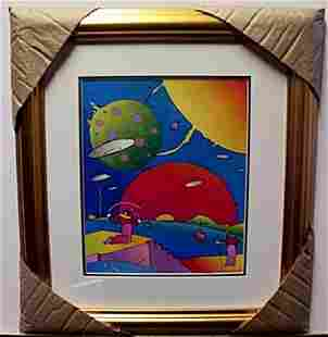 """""""YEAR 2250"""" Lithograph By Peter Max"""