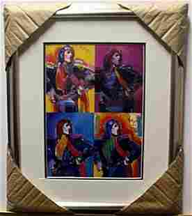 """""""MICK JAGGER"""" Lithograph By Peter Max"""
