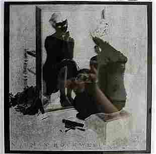"""""""Sitting in front of the Mirror"""" by Norman Rockwell"""