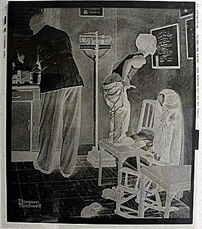 Original Plate by Norman Rockwell