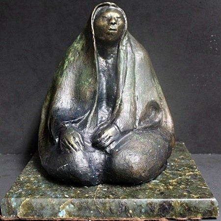 Patina Bronze Sculptrue on a Marble Base (42X)
