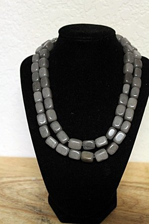 Gray Sapphire Necklace
