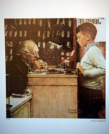 Norman Rockwell THE WATCHMAKER OF SWITZERLAND LE Litho