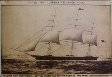 """Clipper Ship Nightingale"" & ""American Field"