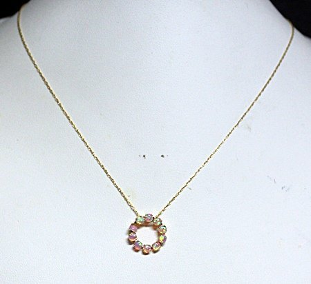 Lady's Fancy Opals Necklace.