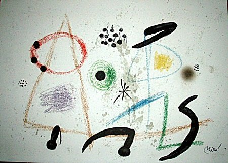 Maravillas 3 Lithograph-By Miro (12CQ)