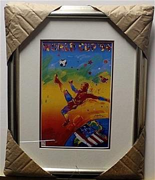 """""""WORLD CUP '94"""" Lithograph By Peter Max"""