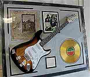 Led Zeppelin Autographed Guitar with Bio, Album,