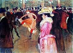 At The Moulin Rouge  Toulouse Lautrec By Henri De (CQ)
