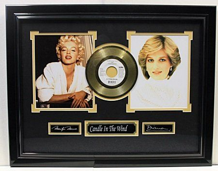 """""""Candle in the wind"""" 45 Gold Polated By Elton John"""