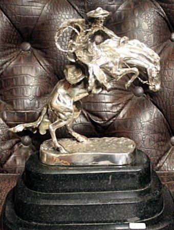 """Man with Guitar"" - Bronze Sculpture After Pablo"