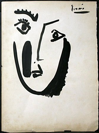 Original Watercolor on Paper By Pablo Picasso