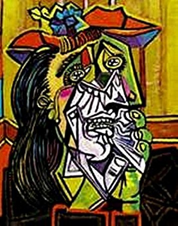 Weeping woman with red hat-Collection Domaine Picasso