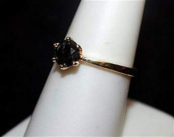 Very Fancy Black Diamond Gold over Silver Ring.