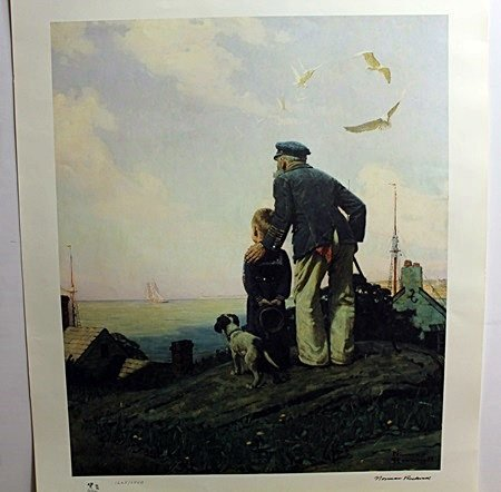 """""""OUTWARD BOUND"""" by Norman Rockwell"""