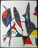 Original Lithograph By Joan Miro (54ZM)