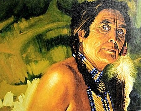 "Giclee on Canvas ""Elder Lady"" After Unknown Artist."