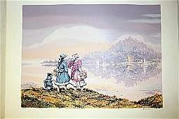 """Pastel Village"" By Artist Roulin.(BO)"