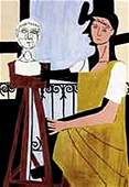 Woman with Sculpture-Collection Domaine Picasso