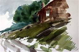 """Original Watercolor on Paper """"Chances for Rain"""" by"""