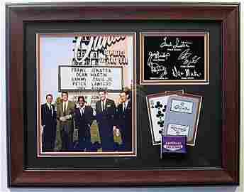Rat Pack Photo with Autographs Memorabilia - LA1