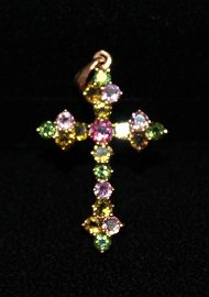Gorgeous  14kt Rose Gold over Silver Cross Mix