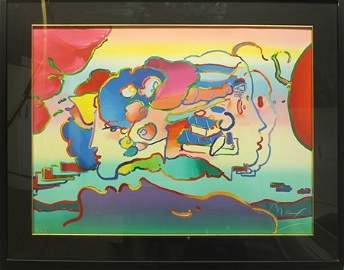 Original Lithograph by Peter Max (72ZY)