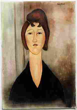 Pastel Drawing on Paper by Amadeo Modigliani