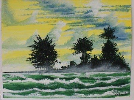 """Rapid Waters"" Original Oil Painting by William Verdult"