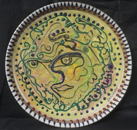 """""""Expressions"""" Original Oil on Ceramic Plate by William"""