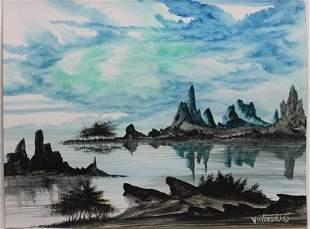 """Desert Blues"" Original Oil Painting by William Verdult"