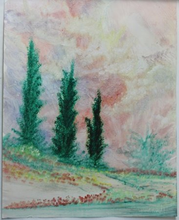 """""""The Evergreen"""" Original Oil Painting by William"""