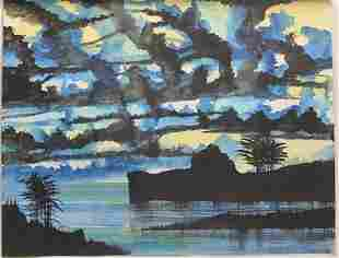 """Blue Dance"" Original Oil Painting by William Verdult"