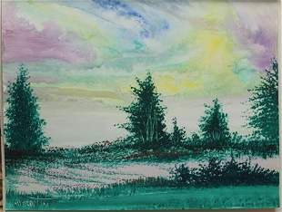 """Indian Skies"" Original Oil Painting by William Verdult"