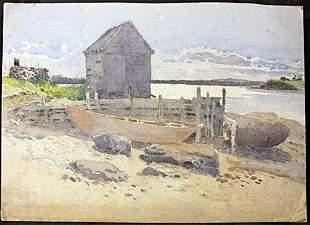 Original Watercolor on Board.