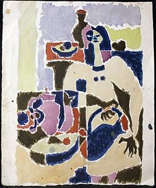 Original Watercolor on Paper By Victor Di Gesu