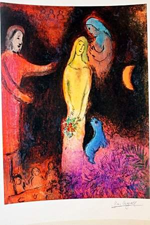 RED DRESS BY MARC Chagall (6DG)