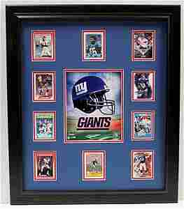 10 Cards with Licensed Photo of The New York Giants -