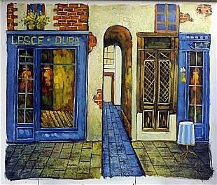 Original Acrylic on Canvas; Signed Bonglis