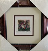 """Framed Lithograph """"Natures Garden II"""" by Kathleen"""