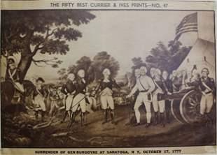 """""""Surrender of Gen. Burgoyne At Saratoga 1777"""" & """"The"""